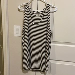 Army green stripped tank top
